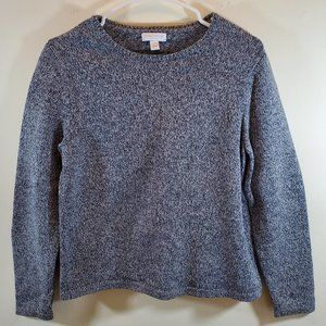 Charter Club Blue Marled Crew Neck Sweater